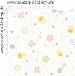 Red Rooster Sweet Dreams Pink Small Toss, Babymotive rosa und pastell >> Mindestbestellmenge 1 Meter!