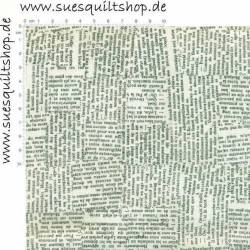 Stof Quilters Basic Zeitungsdruck natur schwarz