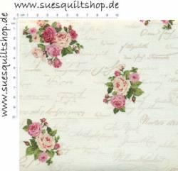 Stof Rosies Garden kleine Rosen rosa lachs