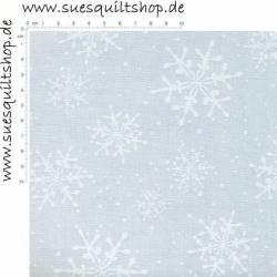 Maywood Fresh Fallen Snow Schneeflocken weiss auf weiss >>> Mindestbestellmenge 1 Meter