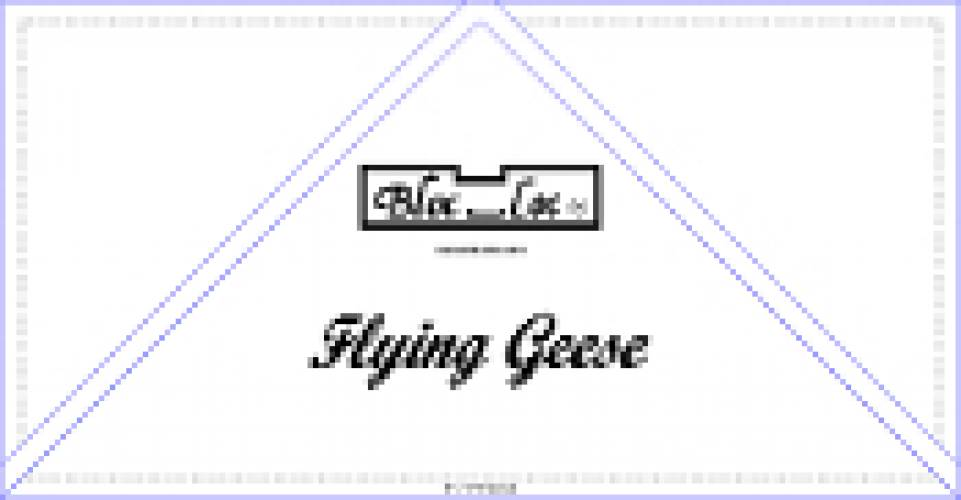 BlocLoc Flying Geese 6x12 inch