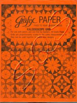 Papier in inch Einteilung, Dreieck-Raster f. Kaleidoscope