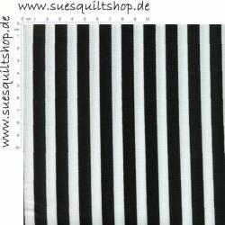 Riley Blake Black/White Stripe, Streifen schwarz u. weiß ca 12 mm breit ***BESTSELLER ***