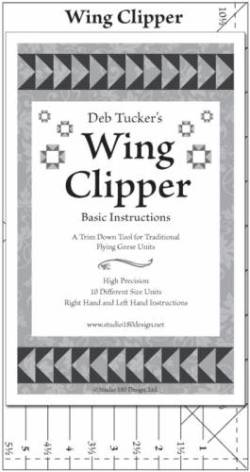 Deb Tuckers Flying Geese Lineal Wing Clipper