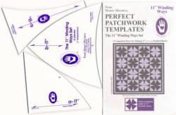 Perfect Patchwork Templates Winding Ways Template Schablonen 11 inch