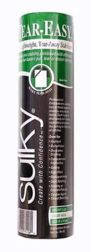 Stickvlies Tear Easy Tear-Away, ca. 20 cm x 10 m, weiß, permanent aufbügelbares, ausreissbares Stickvlies