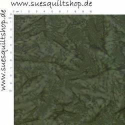 Hoffman Batik Tavarua dunkel olivgrün >>> Mindestbestellmenge 1 Meter <<<
