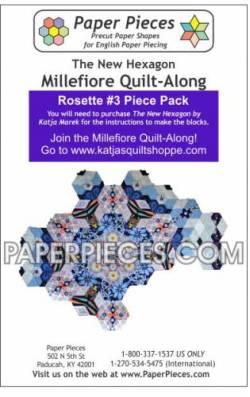 Papierschablonen für Rosette  #3 for The New Hexagon Millefiore Quilt-Along