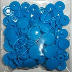 Snaps Druckknöpfe 25 stk. ca. 14,1 mm, B08 blau