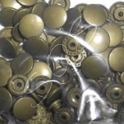Snaps Druckknöpfe 25 stk. ca. 12,4 mm, B12 altgold
