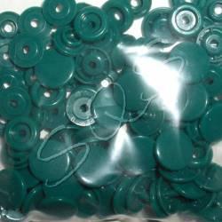 Snaps Druckknöpfe 25 stk. ca. 12,4 mm, B31 dunkelgrün