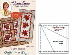 Anleitung Autumn Leaves Quilt In A Day mit Acrylschablone