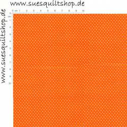 Fabric Arts Pin Dots Punkte weiß auf leuchtend orange