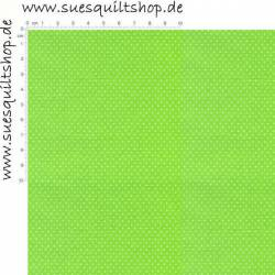 Santee Pin Dots Punkte weiss auf leuchtend hellgrün