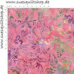 Timeless Treasures Tonga Batik Taffy pink violett gelb grün
