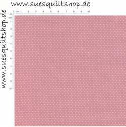 Fabric Arts Pin Dots Punkte weiß auf hell altrosa