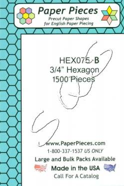 Papierschablonen Hexagons   3/4 inch, ca. 1500 stk. Großpackung