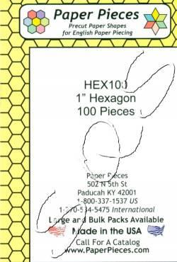 Papierschablonen Hexagons  1 inch  ca.   100 stk./Packung