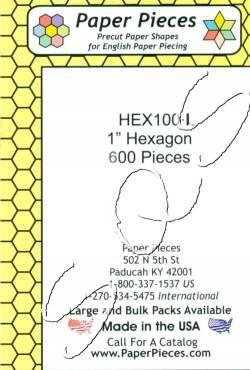 Papierschablonen Hexagons  1 inch  ca. 600 stk. Großpackung