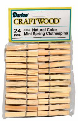 Mini Wäscheklammern aus Holz, ca. 4,76 cm lang, 24 stk. pro Packung