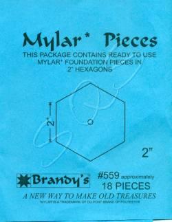 Mylar-Schablonen Hexagons 2 inch, ca. 18 Stück