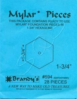Mylar-Schablonen Hexagons 1-3/4 inch, ca. 28 Stück