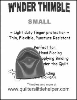 Wnder Thimble Small Wonder Thimble Fingerschutz