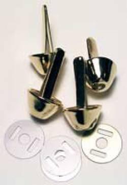 Taschen-Füße aus Metall ca. 10 mm, 4 stk/pkg, goldfarben