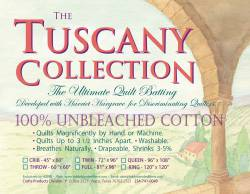 Hobbs Tuscany Collection Unbleached Cotton Batting   King Size ca. 120 x 120 inch