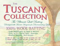 Hobbs Tuscany Collection Wool Batting   Twin Size 72x96 inch