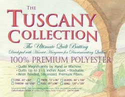 Hobbs Tuscany Collection Polyester Batting   Twin Size 72x96 inch
