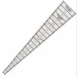 Wedge Ruler  9° Degree Circle Wedge Ruler 25 inch lang