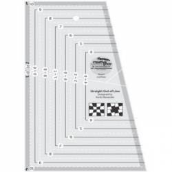 Creative Grids Lineal Straight Out Of Line 6x10 inch Ruler