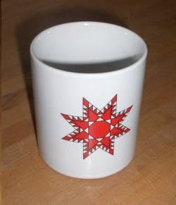 Tasse mit Quilt-Sterne Motiv - ohne Schriftzug