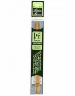 Bambus-Stricknadeln ca. 18 cm lang, Stärke 2.0, Nadelspiel TAKUMI (5 Stück), für Socken