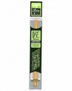 Bambus-Stricknadeln ca. 18 cm lang, Stärke 2.25, Nadelspiel TAKUMI (5 Stück), für Socken