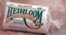 Hobbs Heirloom 80/20 Bleached Cotton WEISS  Queen Size 90x108 inch