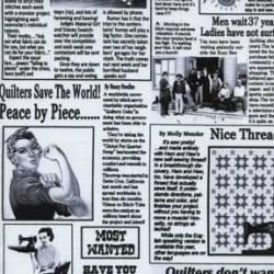 Timeless Treasures Quilting Newspaper Quilt-Zeitung schwarz weiß