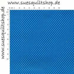 Santee Pin Dots Punkte weiß auf royalblau
