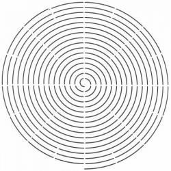 Schablone 12.5 inch Radiating Spiral
