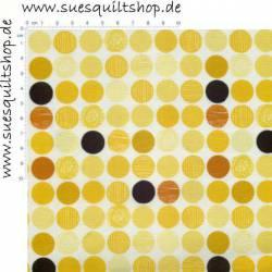 Stof Twist große Punkte gelb