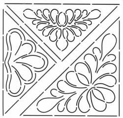 Schablone Triangular Feather in 3 Größen Feder-Dreieck