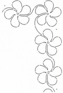Schablone  4 inch Plumeria Blossom Border