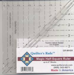 Quilters Rule Lineal Magic Half Square Ruler 6x6 inch