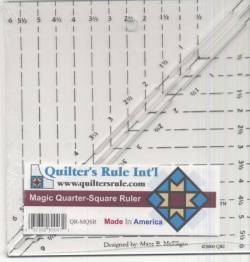 Quilters Rule Lineal Magic Quarter Square Ruler 6 inch