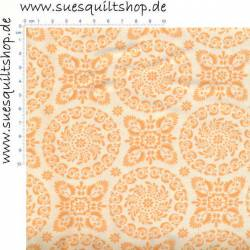 Moda Refresh Floral Doilies Peach