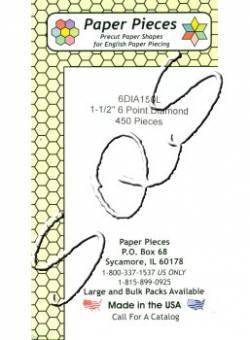 Papierschablonen Rauten 60°,  1-1/2 inch, ca. 450 stk./Packung