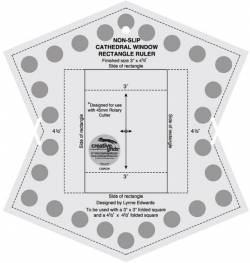 Creative Grids Antirutsch-Lineal Cathedral Window Ruler 9.5x7.75 inch