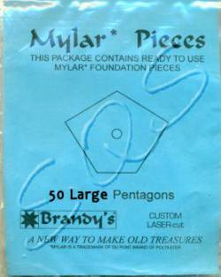 Mylar-Schablonen Large Pentagons Fünfeck