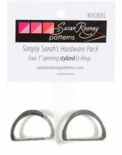 Taschen-Set D-Ringe nickel